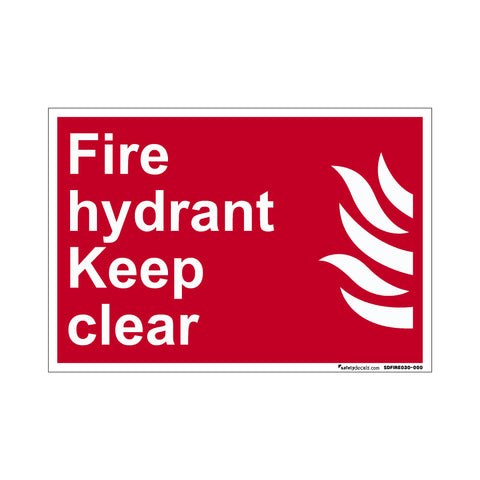 Fire Safety Decal Keep Hydrant Clear