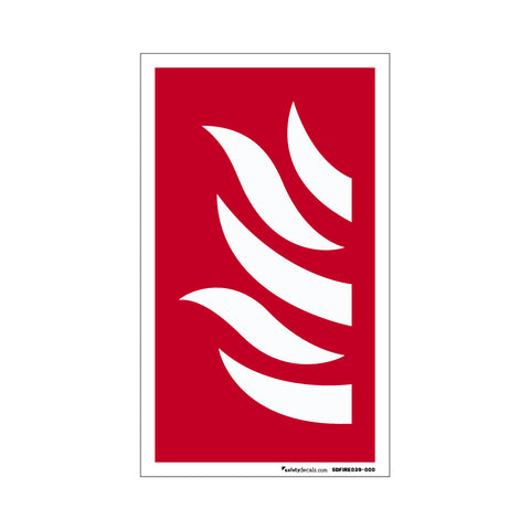 Fire Safety Decal Flame Graphic
