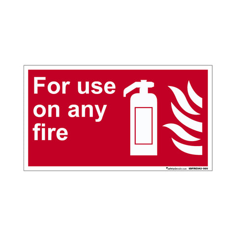 Fire Safety Decal For Use On Any Fire