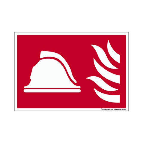 Fire Safety Decal Helmet