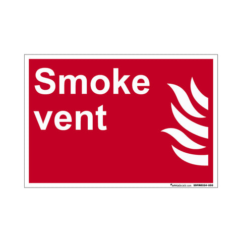 Fire Safety Decal Smoke Vent