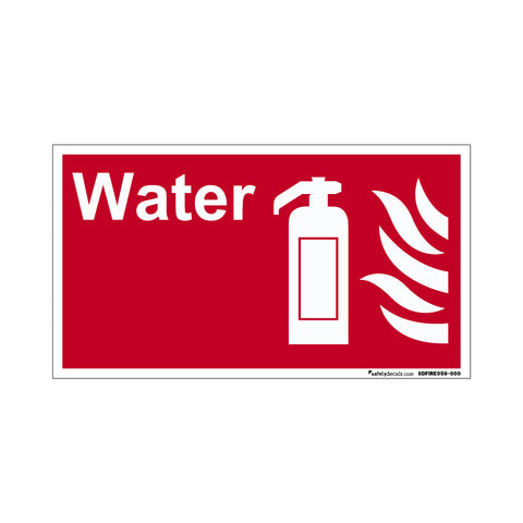 Fire Safety Decal Water