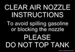 Clear Air Nozzle Instructions