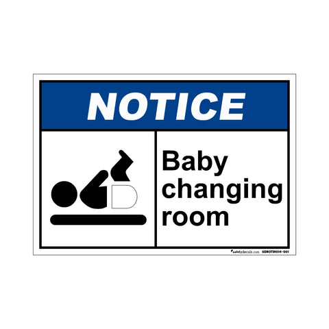 Notice Baby Changing Room