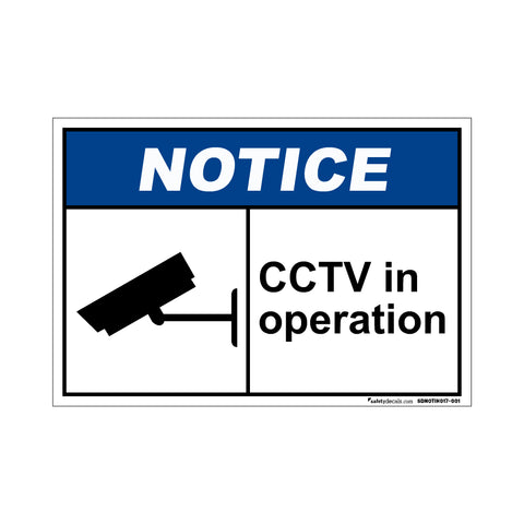 Notice  CCTV In Operation