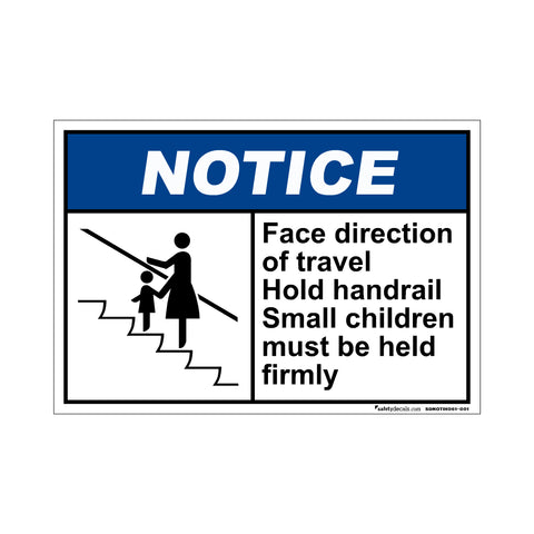 Notice Face Direction Of Travel…Small Children