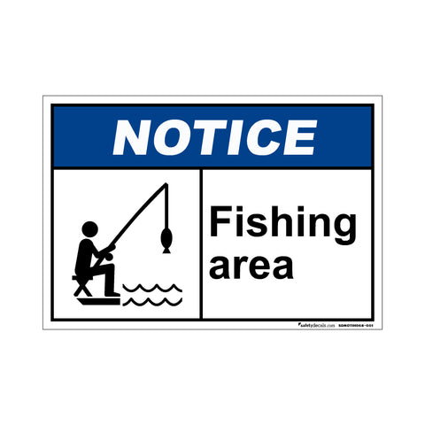 Notice  Fishing Area