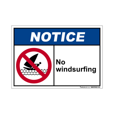Notice  No Windsurfing