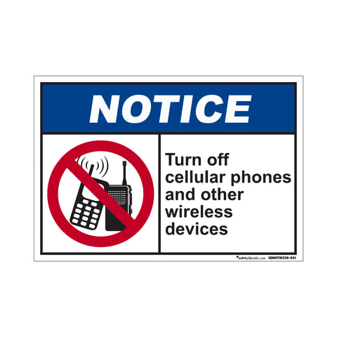 Notice  Turn Off Cellular Phones And Other Wireless Devices