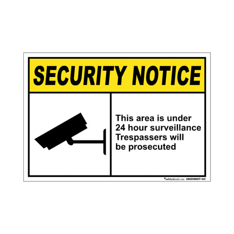 Security Notice This Area Is Under…Prosecuted