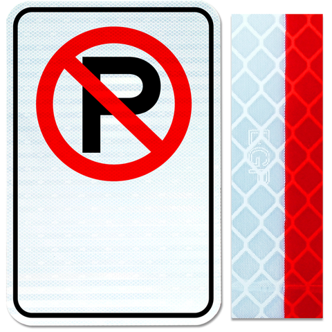 12inx18in NO PARKING symbol