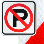 24inx24in NO PARKING symbol
