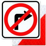24inx24in NO RIGHT TURN symbol
