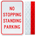 12inx18in NO STOPPING STANDING PARKING