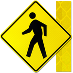 24inx24in PEDESTRIAN CROSSING