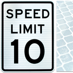 24inx30in SPEED LIMIT 10