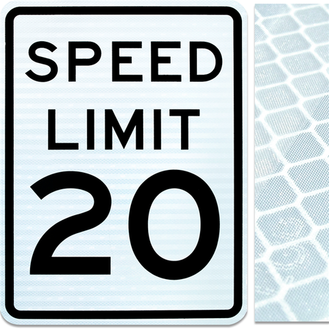 18inx24in SPEED LIMIT 20