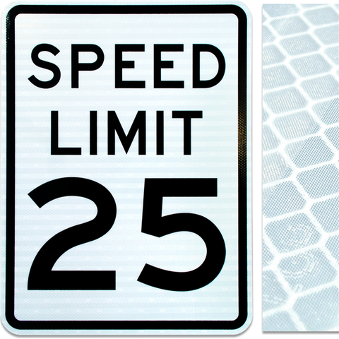18inx24in SPEED LIMIT 25
