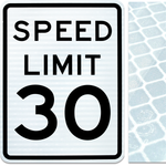 24inx30in SPEED LIMIT 30