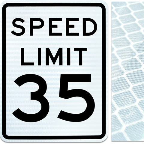 18inx24in SPEED LIMIT 35