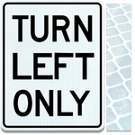 24inx30in LEFT TURN ONLY
