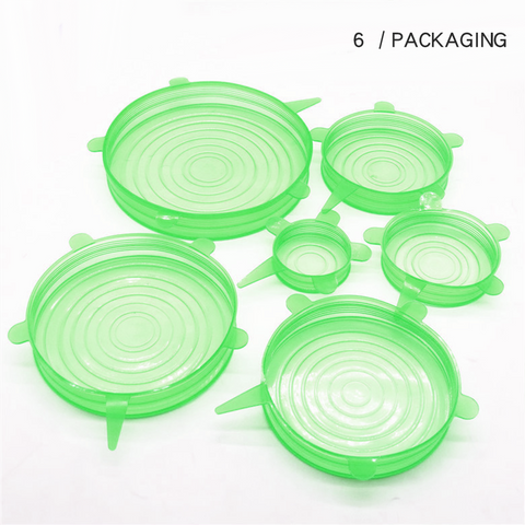Image of Silicone Lids Stretch Reusable Hermetic Food Wrap Covers
