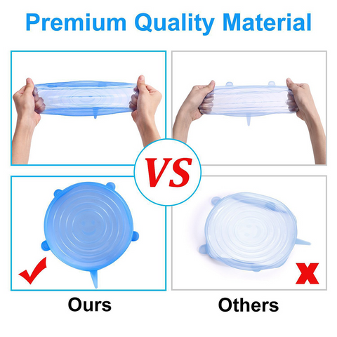 Silicone Lids Stretch Reusable Hermetic Food Wrap Covers