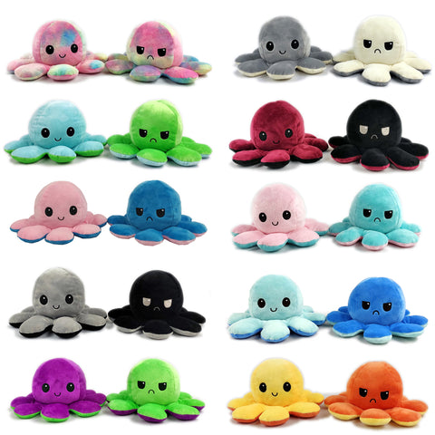 Image of Reversible Flip octopus Plush Stuffed Toy