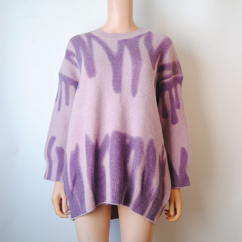 Image of Aproms Elegant Striped Print Sweaters