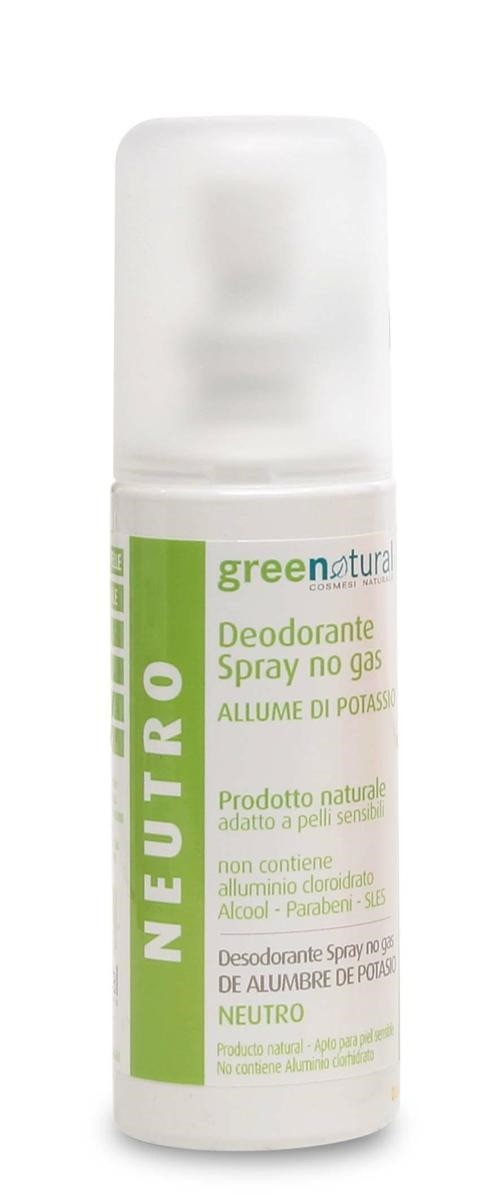 Deodorante allume di potassio  NEUTRO 100 ml GREENATURAL