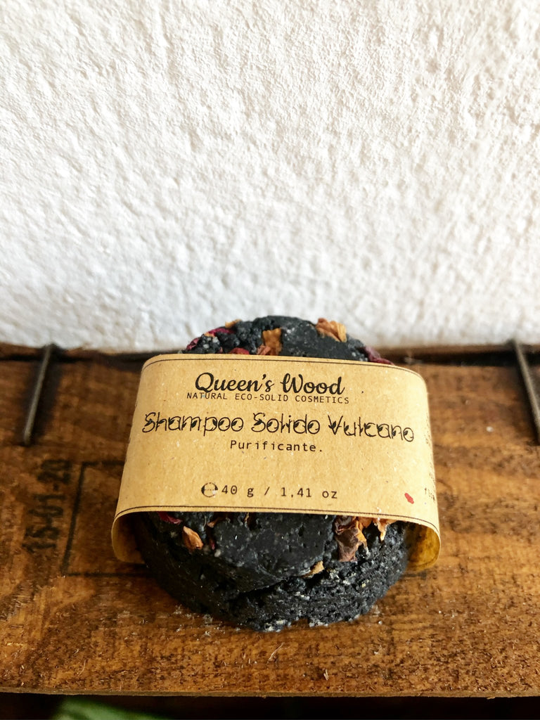 "QUEEN' S WOOD WORLD Shampoo solido ""vulcano"" purificante"