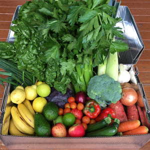 Gold Coast Organics fruit and vegetable box