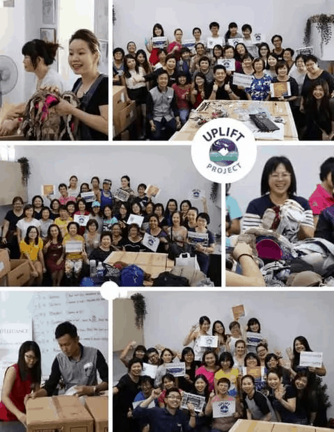 D'Elegance Journey - Uplift Project Singapore Bra Sorting