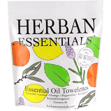 Herban Essentials Assorted Essential Oil Towelettes 20ct