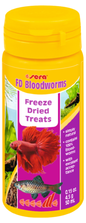 SERA Nature Freeze Dried Bloodworms .15oz