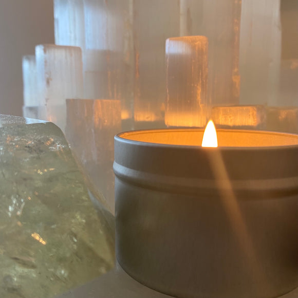 Peppermint + Eucalyptus + Frankincense candle (4oz)