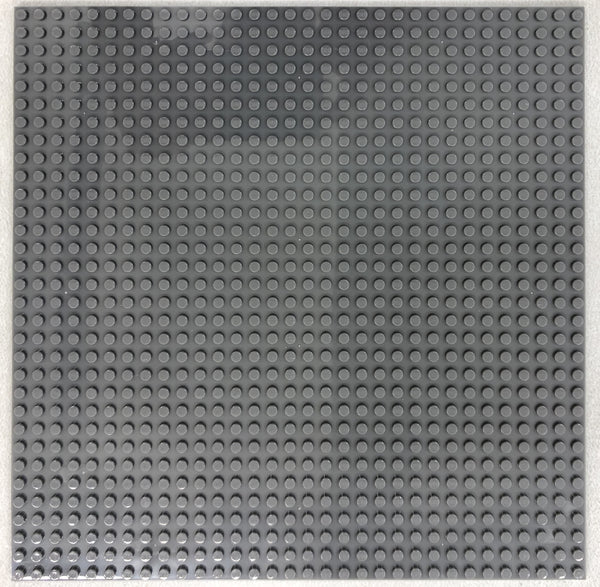 "DARK GREY - 32 x 32 Baseplate 10"" (Lego Compatible)"