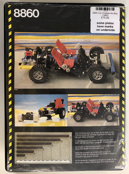 8860 - Car Chassis NO BOX (1980) PRE-OWNED