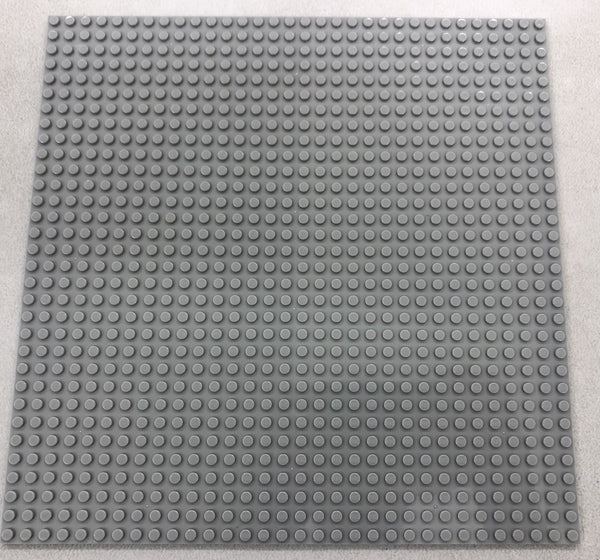 "LIGHT GREY - 32 x 32 Baseplate 10"" (Lego Compatible)"