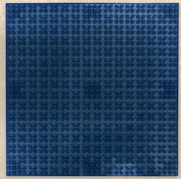"TRANS DARK BLUE - 32 x 32 Baseplate 10"" (Lego Compatible)"