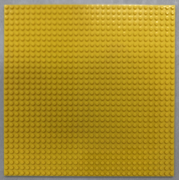 "YELLOW - 32 x 32 Baseplate 10"" (Lego Compatible)"