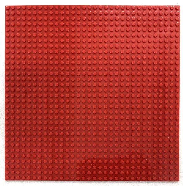 "RED - 32 x 32 Baseplate 10"" (Lego Compatible)"