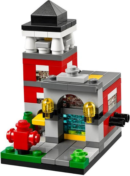 40182 Bricktober Fire Station (2014) DAMAGED