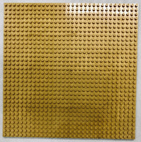 "GOLD - 32 x 32 Baseplate 10"" (Lego Compatible)"