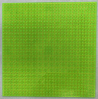 "TRANS NEON GREEN - 32 x 32 Baseplate 10"" (Lego Compatible)"
