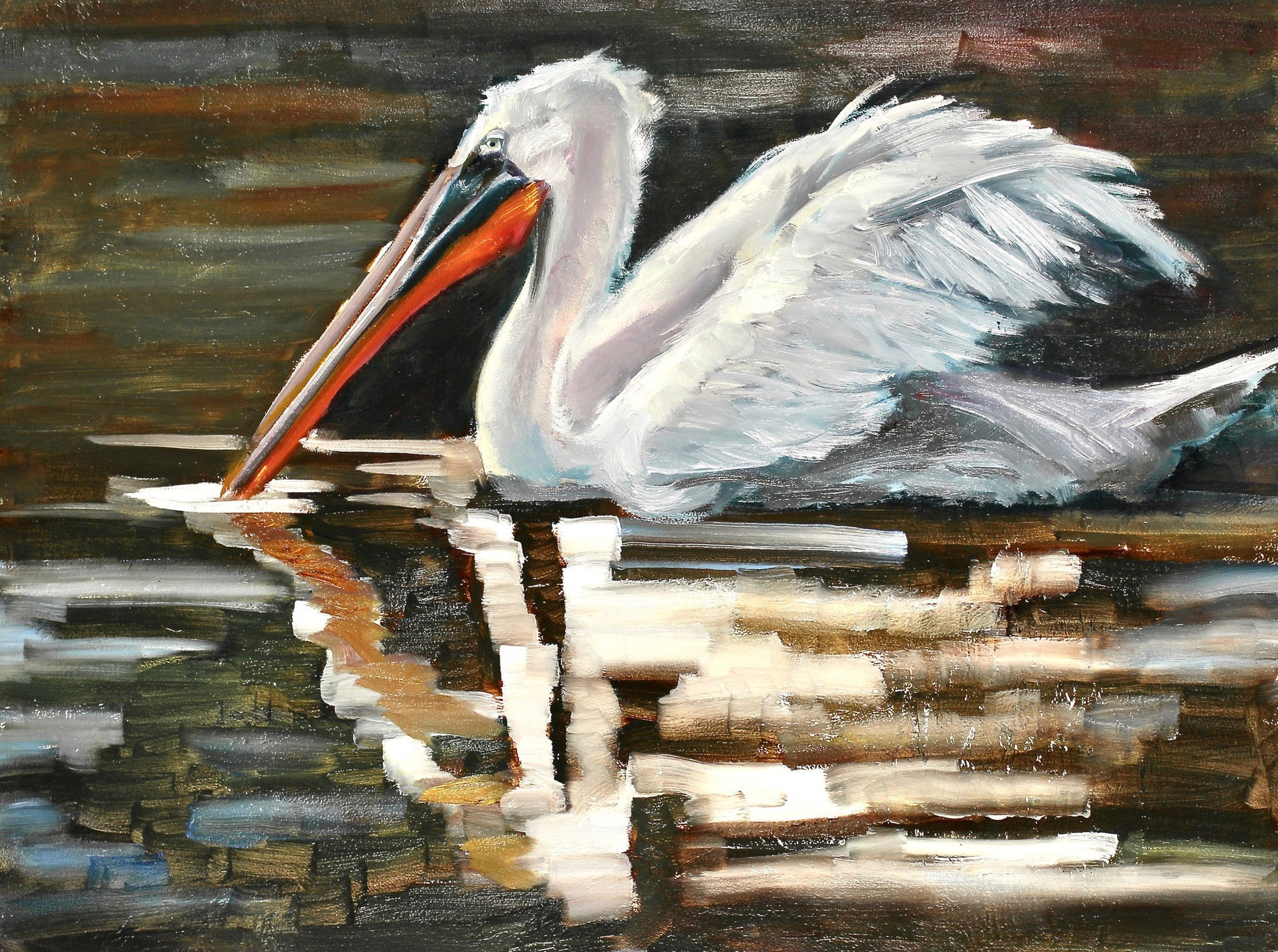 "Pete the Pelican - Susan Raine - 18"" x 24"""
