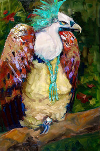 "Vulture with Culture - Susan Raine - 36"" x 24"""