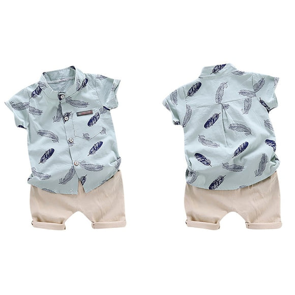 Feather Shorts Set 12M-4T - Jane & Andy Kids