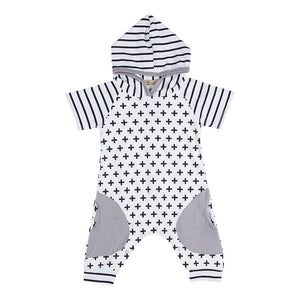 Criss Cross Hooded Jumper 3M-18M - Jane & Andy Kids