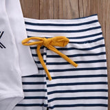 "Striped ""Hello World"" Pants Set 3M-18M - Jane & Andy Kids"